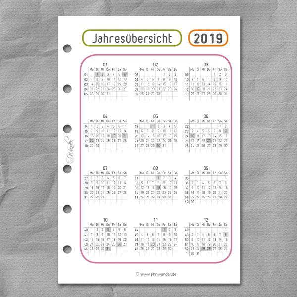 "2019 Wochenkalender ""LuckySinn"" Pocket – Bild 2"
