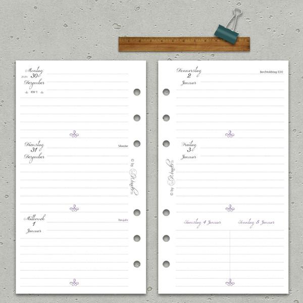 "2020 Wochenkalender ""VintageSinn"" Personal (A6) – Bild 2"