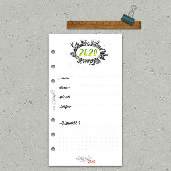 "2020 Wochenkalender ""LetteringSinn"" Personal (A6) – Bild 4"
